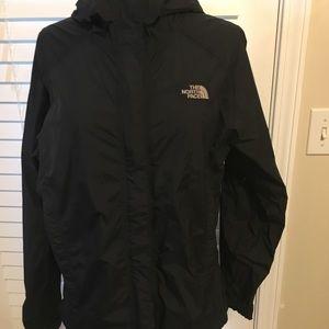 North face medium women's black rain jacket